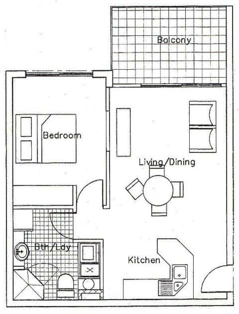 apartments 1 bedroom floor plan palm cove tropic