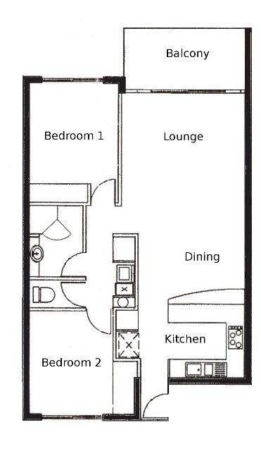 back gallery for two bedroom apartment floor plans
